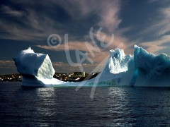 Twillingate, iceberg in the harbour